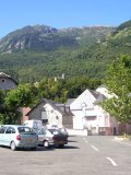 st-clement square in front of our holiday-renting-flat in the pyrenean mountains